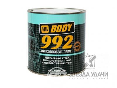 Антикоррозийный праймер грунт 992 красный (коричневый) 1кг Body/уп 6