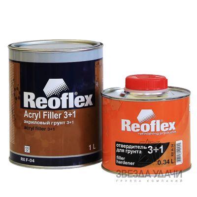 Грунт 3+1 серый 0,5л без отвердителя Reoflex