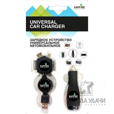 Зарядное устройство Универсальное автомобильное SAPFIRE
