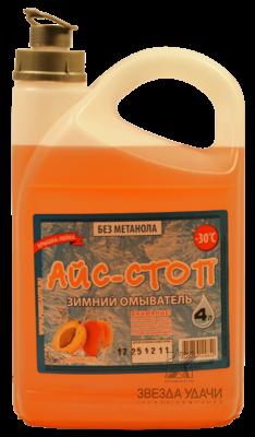 Стеклоомывающая жидкость АЙС-СТОП абрикос -30 С 4 л