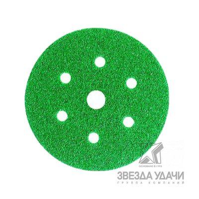 Круг абразивный 245 Hookit, зеленый, 7 отверстий, P-60, d150мм 3М