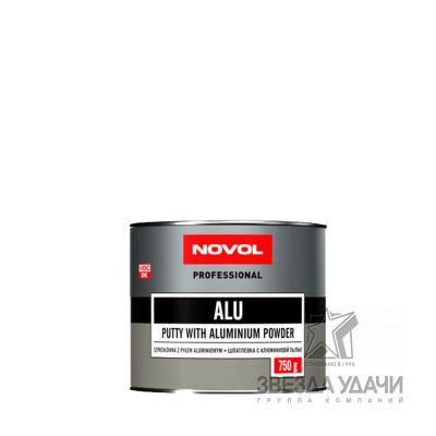 Шпатлевка ALU с алюмин пылью 0,75 кг Novol