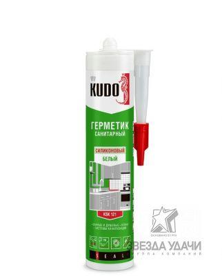 Герметик KSK-123 силиконовый санитарный сигнальный серый 280 мл KUDO уп/12