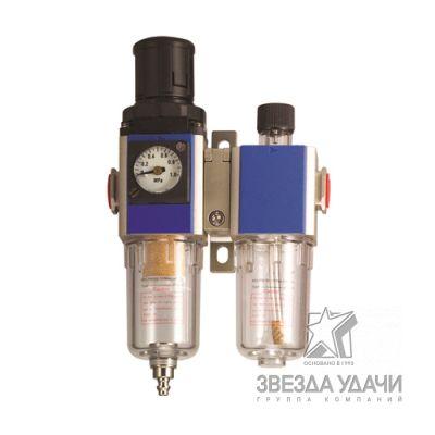 Фильтр-влагоотделитель с регулятором давления, манометром и лубрикатором 1/4 5мкм 9Бар Русский Масте