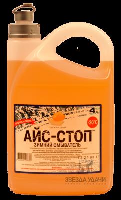 Стеклоомывающая жидкость АЙС-СТОП дыня -20 С 4 л