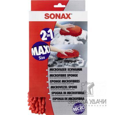 Губка из микрофибры для мойки автомобиля Sonax