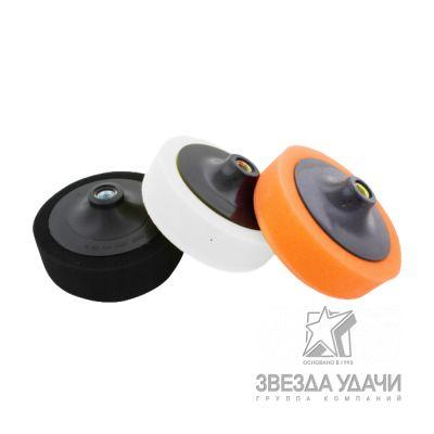 Диск полировальный №1 150*125 мм для абразивной пасты с насадкой, оранжевый РОСТКРУГ
