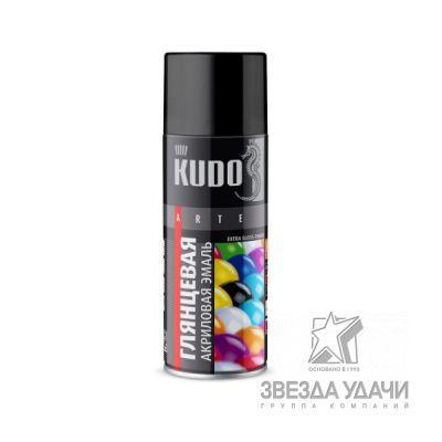 Черная высокоглянцевая RAL 9005 эмаль универсальная 520мл Кudo