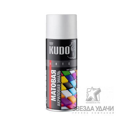 Белая матовая RAL 9003 эмаль универсальная 520 мл Кudo
