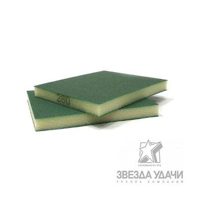 Шлифовальная губка 123х98х12,5мм, 2-х сторонняя, P80 SUNBLOCK