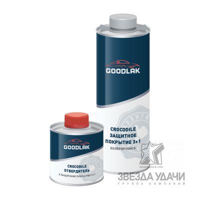 Защитное покрытие 3+1 (0,75л+0,25л) колеруемое Crocodile Goodlak
