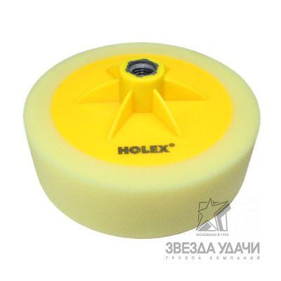 Полировальник PROFI на резьбе М14 150x50мм жёлтый HOLEX