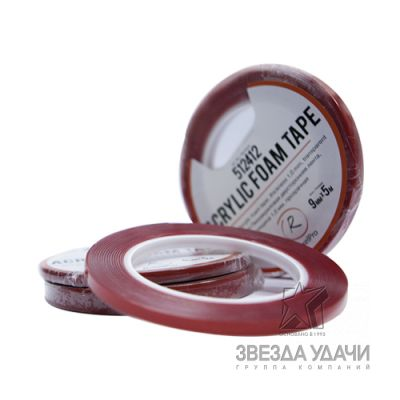 RoxelPro Пеноакриловая двусторонняя лента, 6мм*5м, толщина 0,1мм, прозрачная