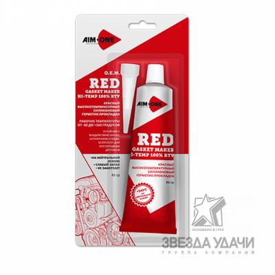 Герметик для прокладок 85гр. Красный AIM-ONE. RED RTV Gasket Maker Neutral Type GM-RD0085/12
