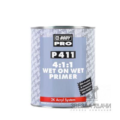 Грунт BODY PRO P411 WET ON WET 4:1:1 2K серый 1л