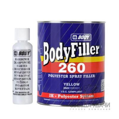 Отвердитель BODY H705 к жидкой шпатлевке 260, грунту PRO P261 2К бесцветный уп /6