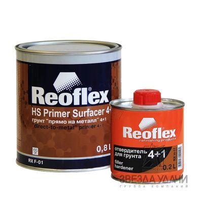 Грунт 4+1 SURFACER серый HS 0,8л на металл Reoflex уп/6