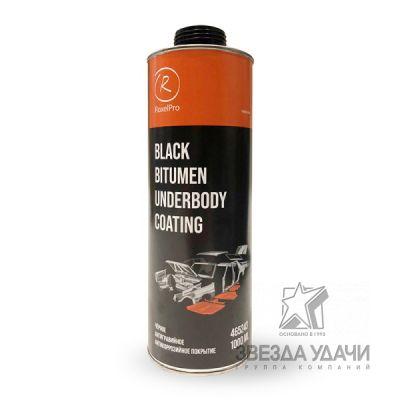 Антигравийное антикоррозийное покрытие, черный 1л, неокрашиваемый RoxelPro