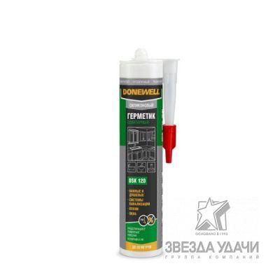 Герметик DoneWell силиконовый санитарный белый 260 мл DSK121 уп/12