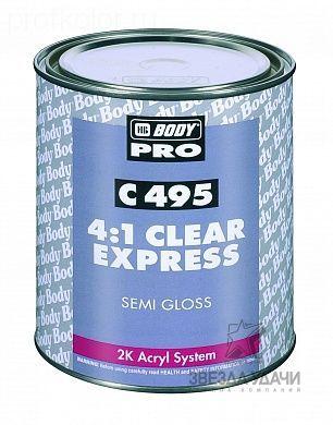 Лак BODY PRO C495 SR EXPRESS RAPID 4:1 2К бесцветный 1л уп/6