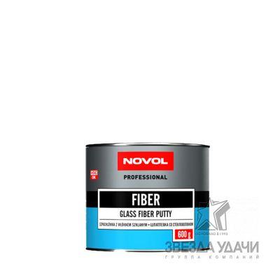 Шпатлевка FIBER со стекловол 0,6 кг Novol