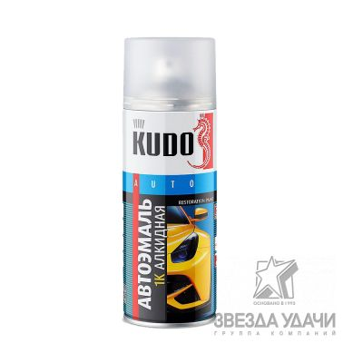 Серый Газ эмаль автомобильная 520 мл. Кudo