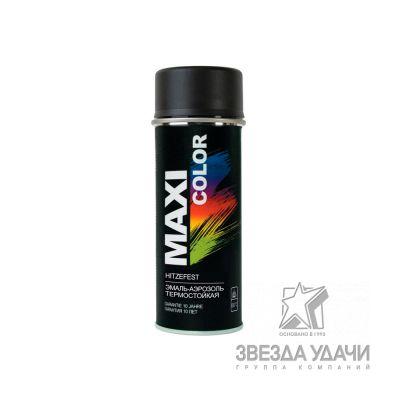 Эмаль-аэрозоль термостойкая черная