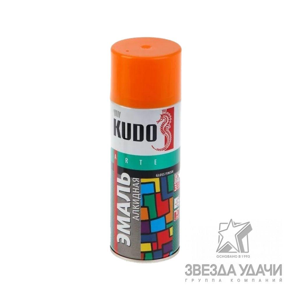 Краска универсальная KUDO, оранжевый,  аэрозоль, 520мл