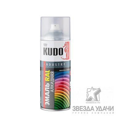 Черный реактивный, эмаль универсальная RAL 9005 520мл KUDO