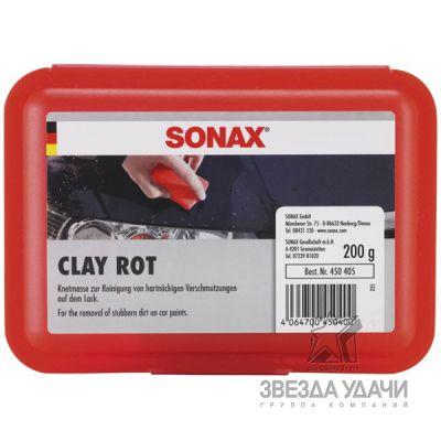 Глиняный брусок для очистки окрашенных поверхностей (красный) Sonax