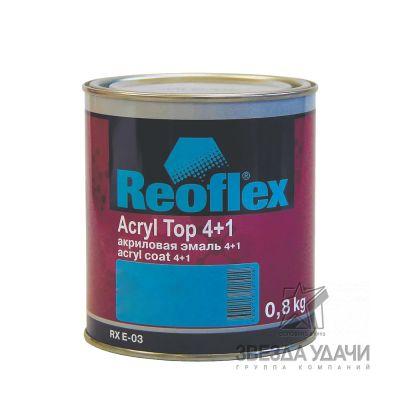 Acryl Top Extra silver 001 акриловая эмаль 1 л Reoflex уп/6