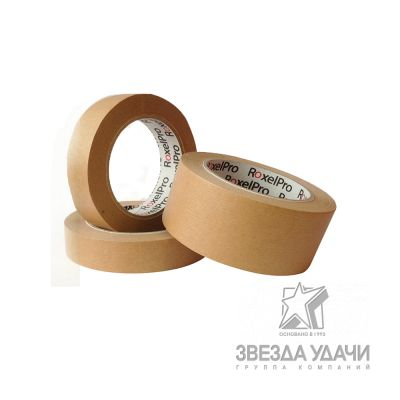 RoxelPro Малярная лента ROXTOP 3580, коричневая, 36мм*40м