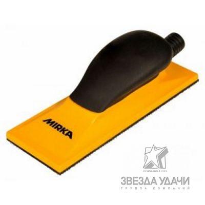 Ручной шлифовальный блок жёлтый с пылеотводом 70x198 22 отв