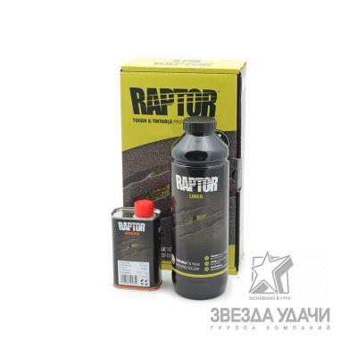 Защитное покрытие 3+1 (0,711л+0,237л) черное Raptor